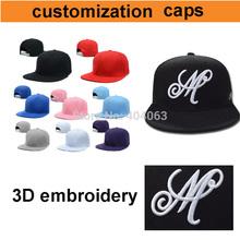 mini wholesale 50pcs!50%-60% discount shipping cost!custom cap hip-hop,custom snapback caps embroidery your logo(China (Mainland))