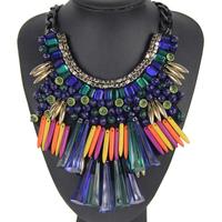 2014 Fashion European USA Exaggerate wild Chain Imitated crystal Statement Necklaces& Pendant Women NK724