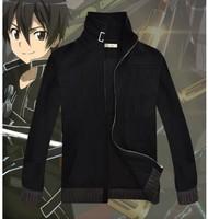 New  Sword Art Online Kirito Jackets Cosplay Costumes Coat