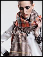 za Free Shipping Fashion Women Elegant Vintage Plaid Warm Scarf Brand Designer Classic Scarves Pashmina Style Muffler For Woman