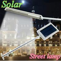 Outdoor Lighting Solar Powered LED Street Light Lamps Solar Panel Spot Bulb Lights Emergency Path Wall Lighting for Garden Home