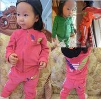 children outerwear velvet sport set baby jogging sweater jacket+pants boys tracksuits BOY girls shampooers spring autumn clothes