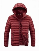 Men thick warm cotton padded coat casual hoodied jacket coats tops outerwear for winter free shipping