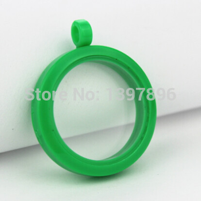Free shipping! green plain plastic 30mm Magnetic Closure Acrylic Floating Locket(China (Mainland))