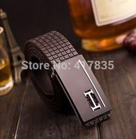 fashion men belt brand Genuine Leather belt females belt / women belt leisure widened Leather Retro Smooth buckle belt