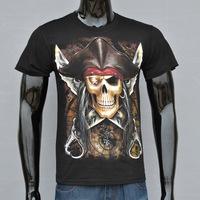 4M231 2014 3D Printed Punk Rock men Short T shirt Tee Tops For men skull sword printing