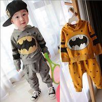 Retail children outerwear sport set baby tshirt Hoodies+pants boys tracksuits Batman spring autumn clothes set free shipping