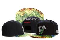 Cayler & Sons money dollar Snapback hats 2014 New Street mens women baseball caps Free Shipping