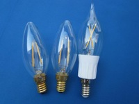 C35 candle LED Led filament bulbs E14 with plastic 360 degree light source L-2