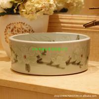 Jingdezhen ceramic art lavabo, European style, mulan basin subsidence basin