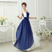 Real Photoes Printed Chiffon One-Shoulder Fabirc Pleat And Flowers Sweetheart Prom Dresses 2014