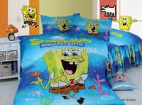 spongebob bedding twin size,3pc cartoon bedding duvet ,100% Cotton chirstmas bedding,kid spongebob bedspreads,spongebob bedlinen