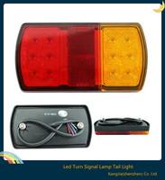 Hot ! 2pcs 12v 2w led car truck trailer tail reverse led lights turn signal lamp tail light for trailer  boat car 150*80*23mm