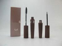 1PACK/LOT Brand Makeup Cosmetics Black MASCARA 2IN1 Eye Makeup Box Free Shipping