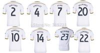 all player Los Angeles Galaxy Keane Donovan Beckham rogers  Top Thailand Quality football shirt soccer jersey custom name shorts