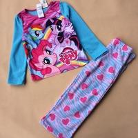 Meninas vestir new 2014 brand babys cotton sleepwear boys my little pony pyjamas girls  clothing set kids pajamas