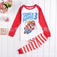 super mario 3 Children's cotton pajamas  Children Pyjamas