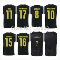 REUS Gundogan Immobile Hummels Soccer Jersey New 14 15 TOP Thailand Quality 2015 Away Black Soccer Shirt
