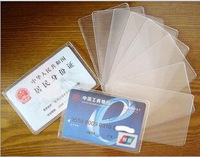 Hot Wholesale ladies transparent Plastic ID Card case Credit bank card Holder women card protective purse