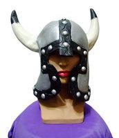 Free shipping Alexandra Roman silver hat helmet horns