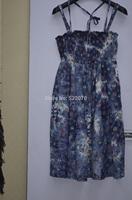 2014 Fall Winter Women High Fashion Europe and American Brand  Printed Tank Dress