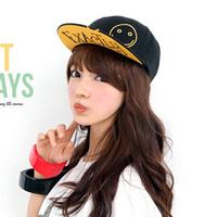 Retail 2014 New Fashion Women & Men Korean Letter Smiley Face Embroidery Baseball Caps,Boys Hip-Hop Hats,Free Shipping  cm101