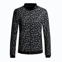 prints jacket 2014 new men spend casual jacket polo neck high quality 7 yards jackets outerwear