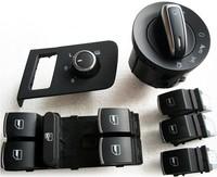 Old 11 touran 4 door regulator switch headlight switch side mirror switch
