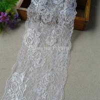 Wholesale lot  Ivory rose flower lace trim diy sewing wedding dress 16cm