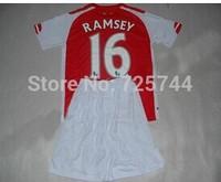New Season 14/15 KIDS OZIL CAZORLA WALCOTT RAMSEY Alexis Podolski Wilshere Soccer Jersey youth uniforms kit