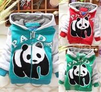 New Panda Autumn Winter Warm Baby Jacket Boys Girls Coat (3Pcs/lot) Children's Cotton Outerwear[iso-14-9-12-A1]