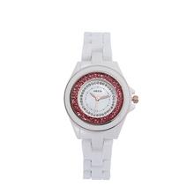 Relojes Sale 2014 Freeshipping Kezzi Analog Casual Watches Fashion Colourful Ceramic Quartz Diamond Jewelry Lovers Wristwatches