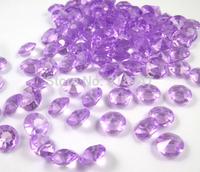Free shipping 8mm 500pcs Light Purple Acrylic Crystal Diamond Confetti Diy Wedding Decoration 003046006(1)