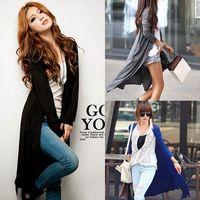 Womens Casual Long Sleeve Cardigan Knit Knitwear Sweater Tops Long Wraps Outwear