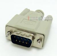 RS232 RS-232 DB9 9-Pin Socket DIY Serial Male Port DIY Adapter + Shell LN004405