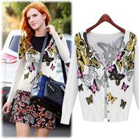 free shipping autuman new arrived 2014  women's knitted butterfly sweater  Fashion jackets women women coat