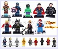DECOOL 18pcs Super Heroes StarWas new version Ironman plastic Building Block minifigures Sets DIY Construction Bricks toy