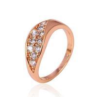 Wedding 18k 18ct Rose Gold Filled GF Women's Swa Crystals Ring Bands SZ7 Free Shipping