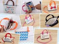 1pc/lot Hello Kitty Cute Universal touch handbag  phone case For iPhone 5 5S  6 6 plus LG G3 G2 galaxy S3 S4 xiaomi case handbag