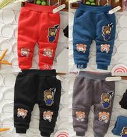 2014Vogue Bear Velvet Trousers(5Pcs/lot) Kid Baby Harem Pants Children Baby Trousers[iso-14-9-12-A1]