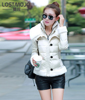 New 2014 high quality warm women winter jacket solid color coat fashion short slim down coat thick parka female