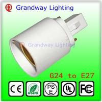 G24 To E27 Socket Base LED Halogen CFL Light Bulb Lamp Adapter Converter Holder lamps adapter