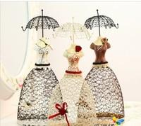 pricess lady dress Jewelry rack jewelry necklace earring display jewelry organizer 36cm jewelry holder women gift free shipping.