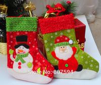 2014 new merry Christmas socks Santa Claus Snowman Stocking Christmas Gift Decoration 26cm 5pcs/lot s56