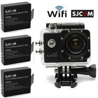 Free Shipping!Extra 2 Battery +SJCAM SJ4000 WiFi 1080P Full HD Outdoor Sports Digital Action Camera Sport DVR