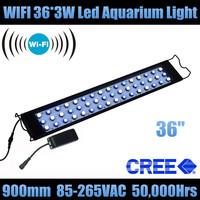 "Wifi 36"" 36*3W aquarios aquarium led acuario FOR FISH TANK+CREE Leds+90 degree lens+5 years warranty"