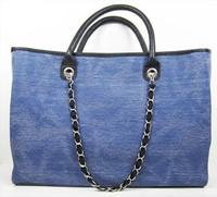 Free Shipping The new arrive 2014 big size women canvas bag Handbag Totes cc chain bag high quality Designer Handbags