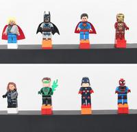 Avengers 8pcs Super Heroes Captain America Iron Man Hulk Batman Thor Action Figures toys Building Blocks Compatible With Lgo