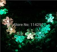 New 2014 SLS02 10 LED Colorful Snowflake Solar String Lights luminaria innovative decoration abajur led string lights