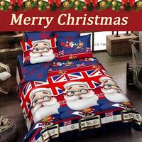 Frozen/Christmas gift bedding set COTTON 3d bedding sets cartoon kid/child bed linen Santa Claus duvet cover bed sheet set #d15